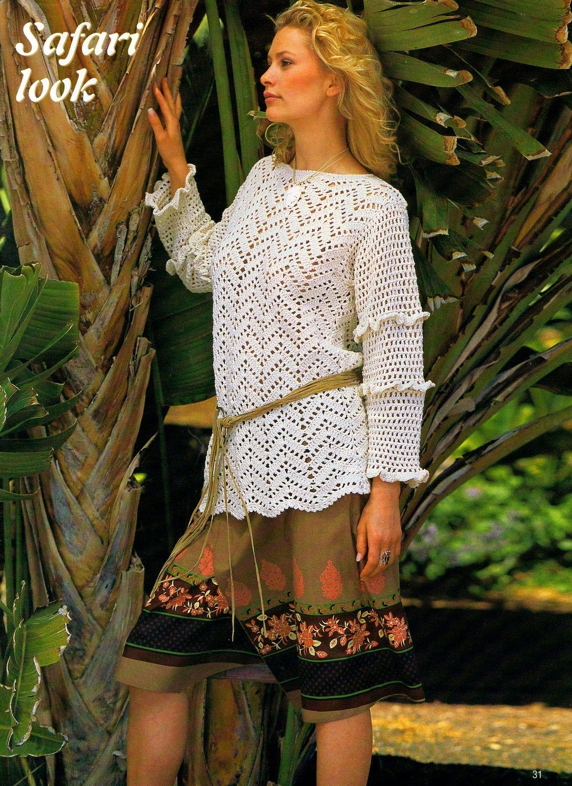 molto carino 93597 b42bc maglione uncinetto donna zig zag (1) - magiedifilo.it punto croce ...