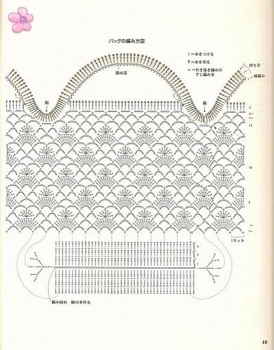 Вязаные сумки крючком со схемами и 60