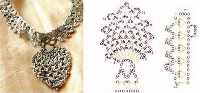 economico in vendita vendita limitata sconto più votato collana uncinetto con pendente - magiedifilo.it punto croce ...