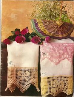Bordi asciugamani fiocco fiore 1 punto for Bordi uncinetto per asciugamani
