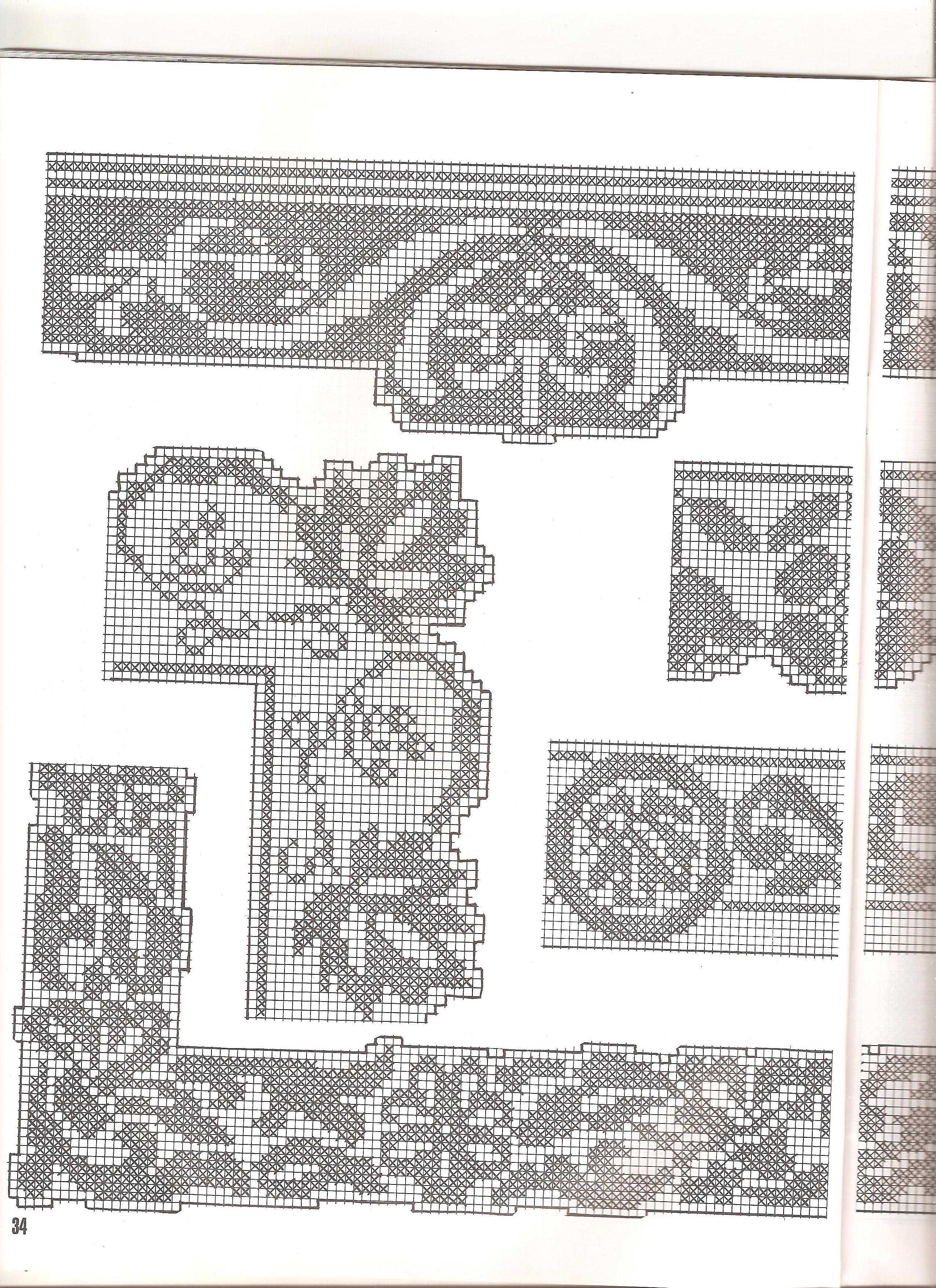 Schemi bordure uncinetto per lenzuola ispirazione di for Bordure uncinetto schemi