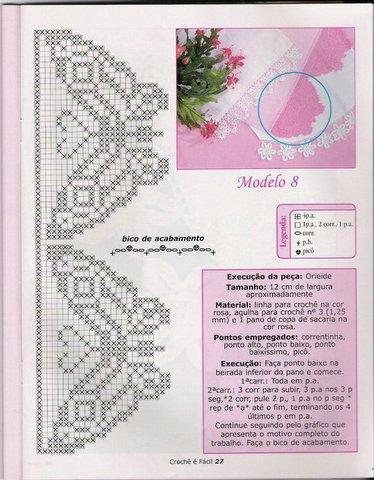 Bordo farfalle filet punto croce for Schemi bordi uncinetto