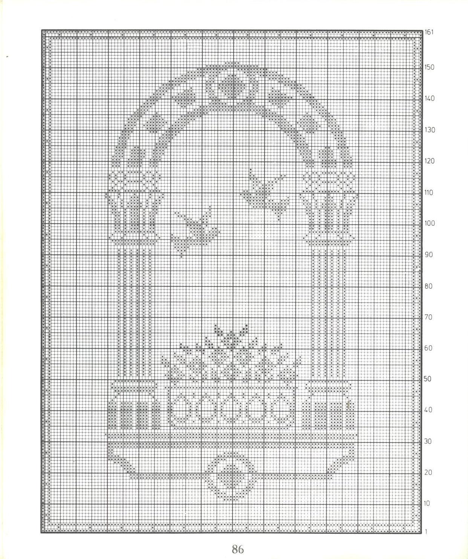 tenda filet colombe e arco (2) - magiedifilo.it punto croce uncinetto ...