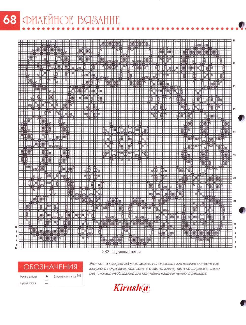 Tovaglietta quadrata con fiocchi schema filet uncinetto for Schemi tovaglie uncinetto filet