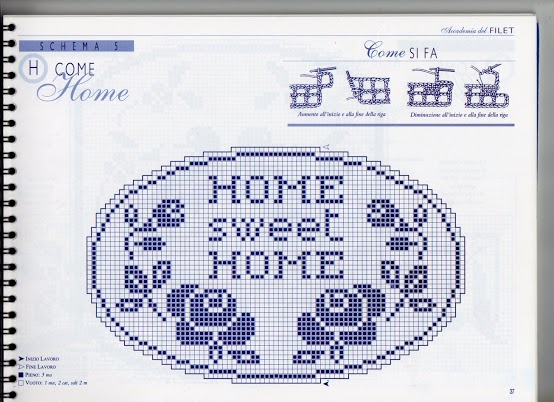 Casa dolce casa filet punto croce for Registro casa schemi
