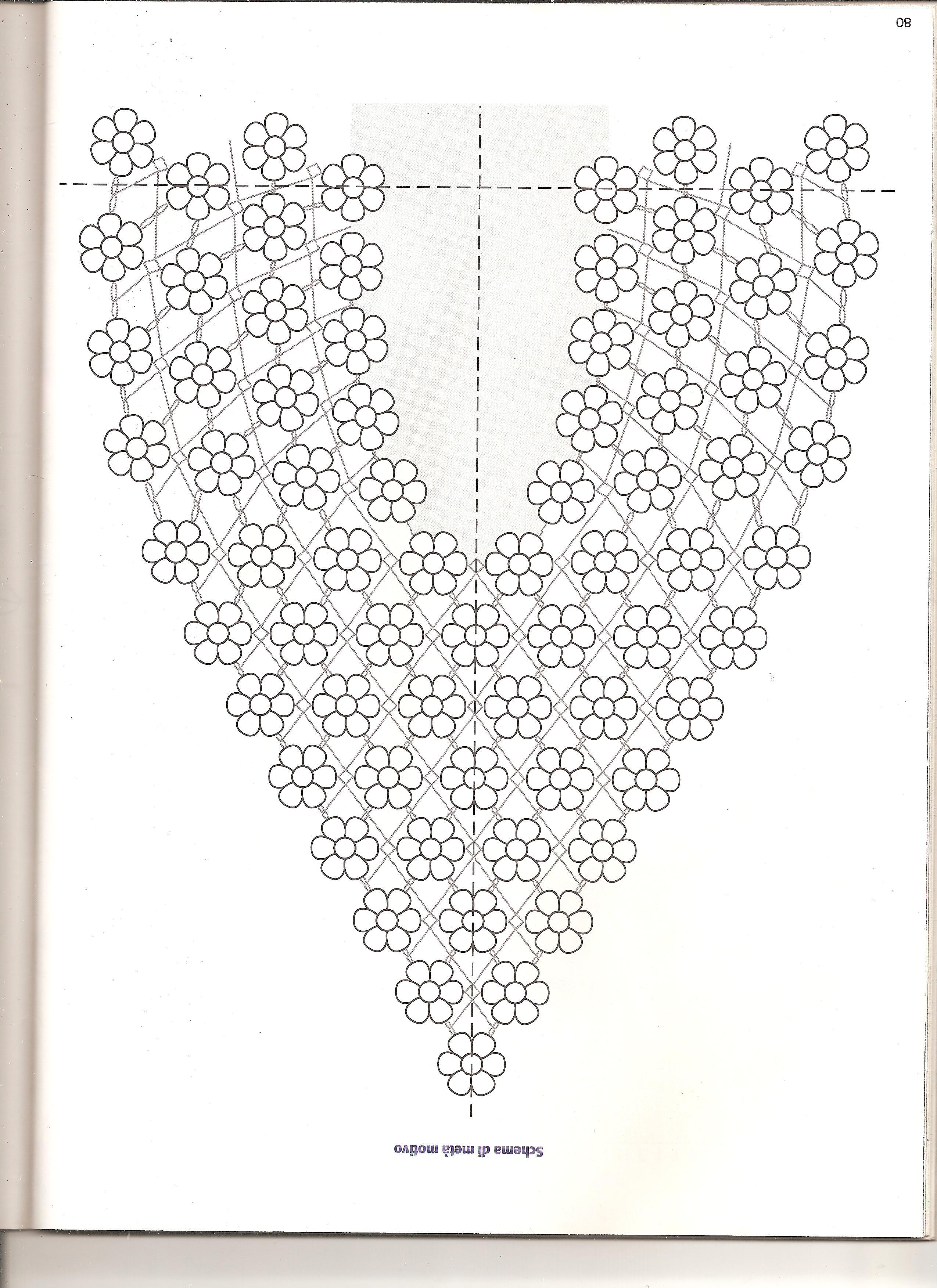 Centrino ovale con fiorellini 3 punto for Centrini all uncinetto schemi gratis