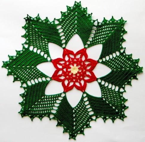Centrino Rotondo Uncinetto Natale 1 Magiedifiloit Punto Croce