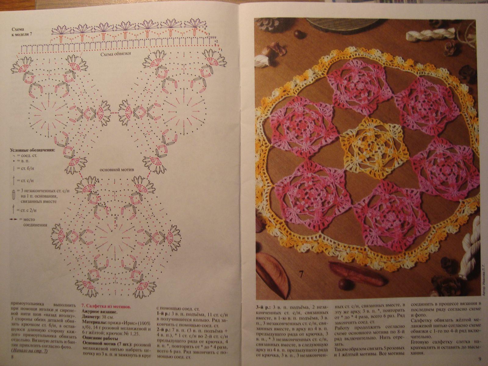 Centrino uncinetto rotondo piastrelle colorate esagonali - Piastrelle esagonali uncinetto ...