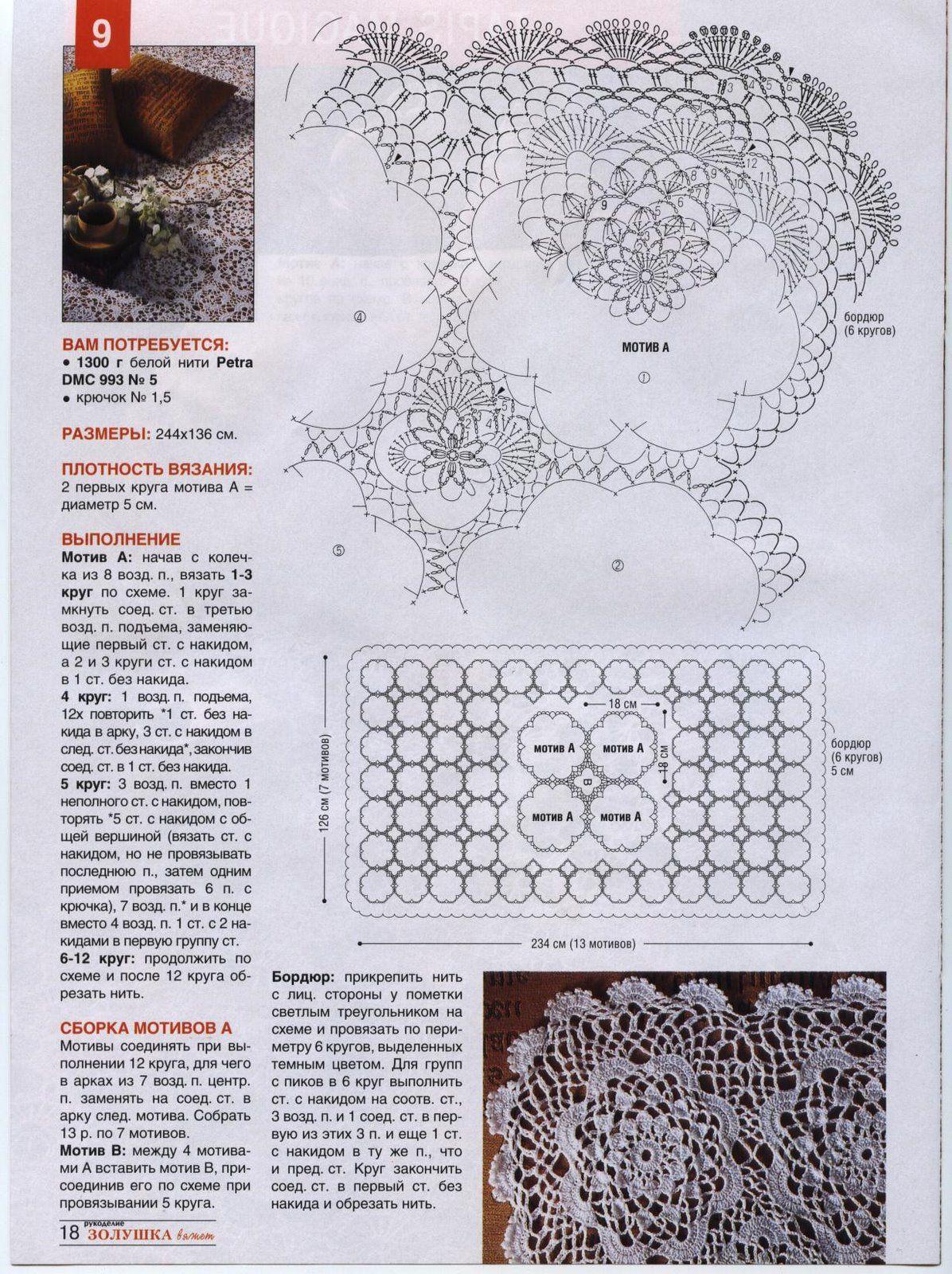 Copriletto Uncinetto Moduli Rotondi Grandi E Piccoli 2