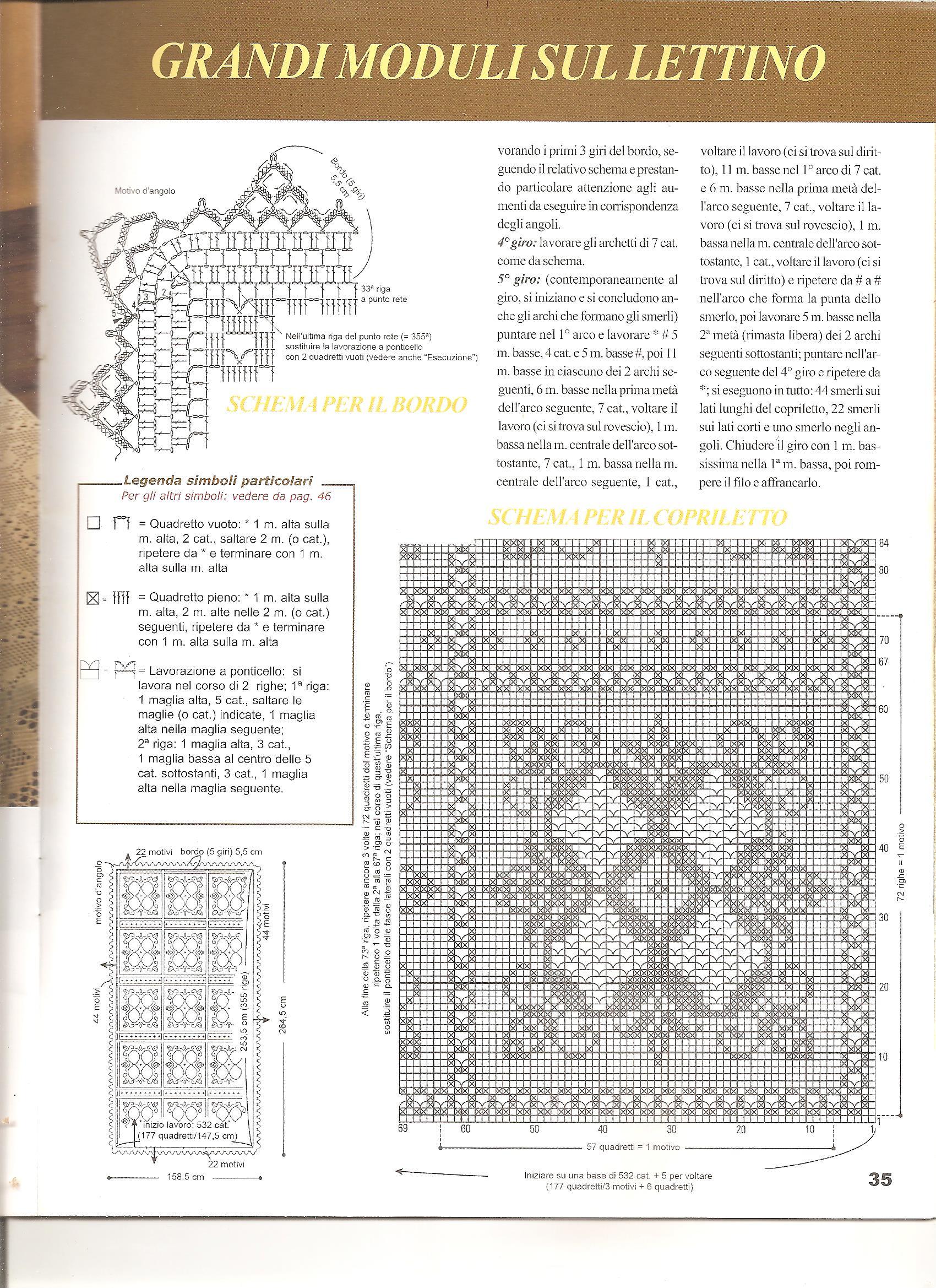 Copriletti Uncinetto Schemi 28 Images Hobby Lavori