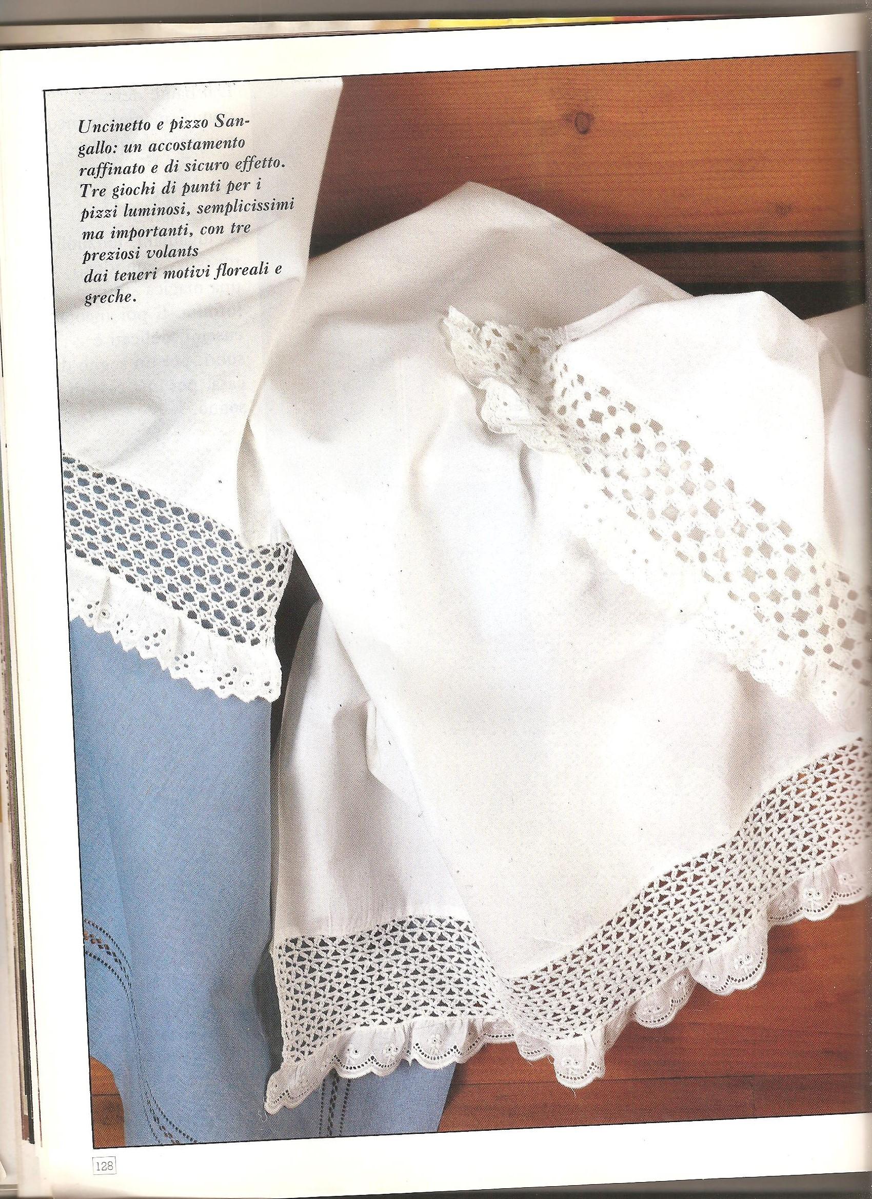 Cuscini e bordure filet 2 punto croce for Bordure uncinetto schemi