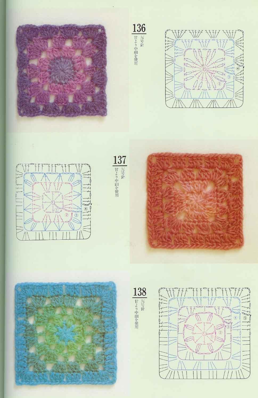 Piastrelle uncinetto 41 punto croce uncinetto schemi gratis hobby creativi - Schemi piastrelle uncinetto ...