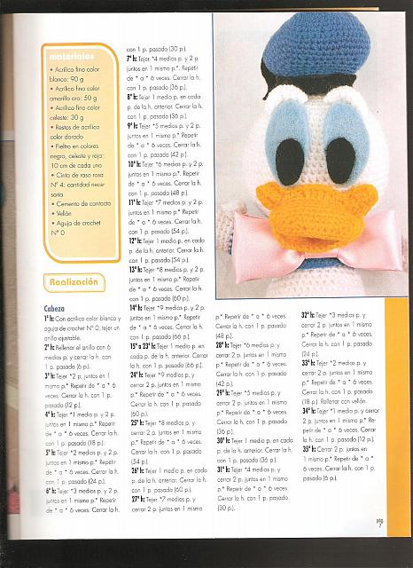Paperino disney donald duck amigurumi 1 - magiedifilo.it ...