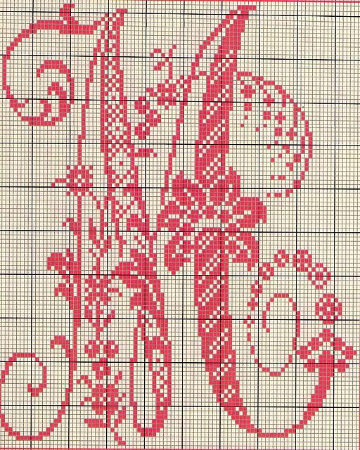 Pin schemi alfabeto punto croce io ricamo on pinterest for Alfabeto a punto croce schemi