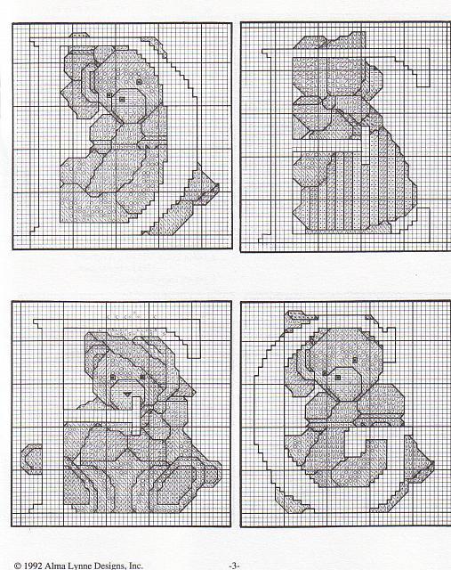 Alfabeto punto croce con gli orsetti teneri 5 for Orsetti a punto croce schemi