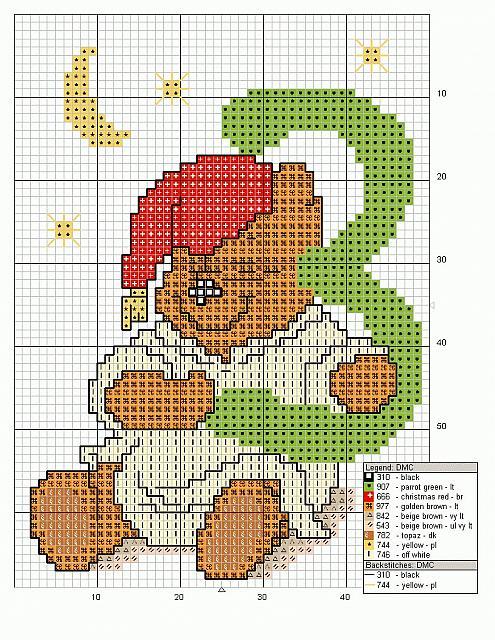 Alfabeto punto croce maiuscolo con winnie the pooh 22 for Winnie the pooh punto croce