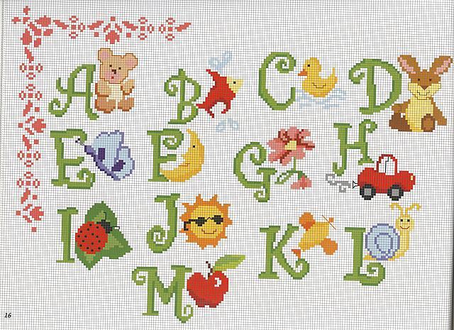 Alfabeto animali punto croce uncinetto for Schemi punto croce animali gratis