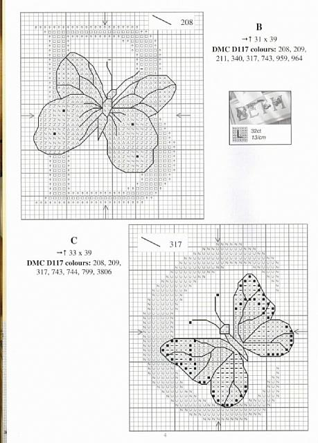 Alfabeto farfalle a punto croce 2 punto for Schemi punto croce farfalle