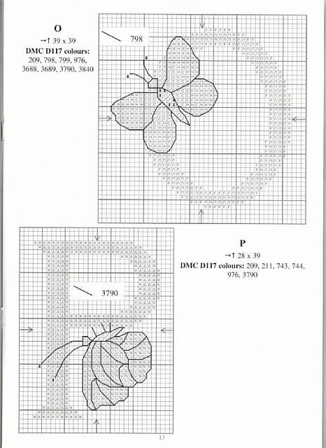 Alfabeto farfalle a punto croce 9 punto for Schemi punto croce farfalle