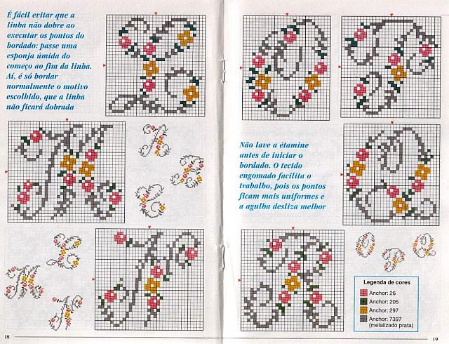 Alfabeto fiorellini maiuscolo 3 punto for Punto croce schemi alfabeto
