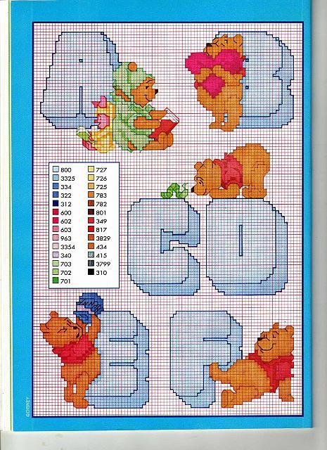 Alfabeto winnie the pooh 1 punto croce for Winnie the pooh punto croce schemi