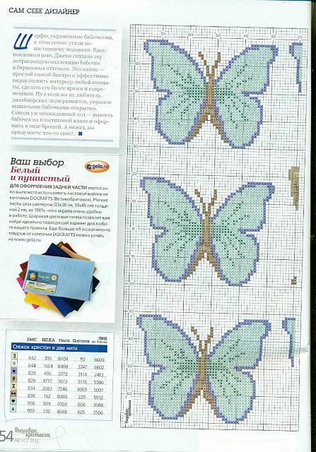Farfalle azzurre schema punto croce 2 for Farfalle a punto croce gratis