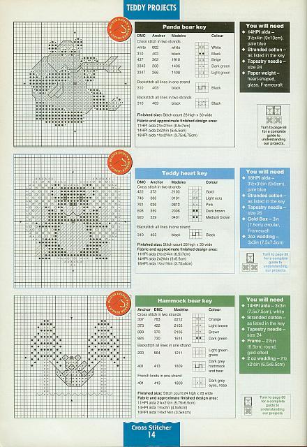 Orsetti carini punto croce 55 3 punto for Orsetti a punto croce schemi