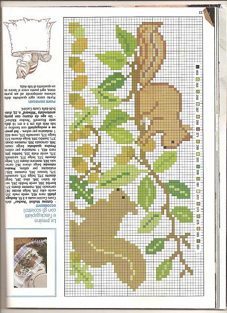 Animali scoiattoli punto croce uncinetto for Schemi punto croce animali gratis