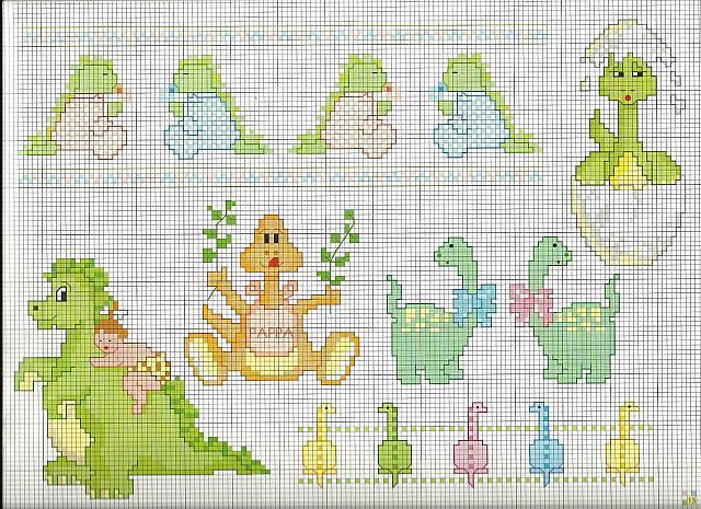 Schemi Elettrici Per Bambini : Schemi punto croce animali per bambini con piccoli
