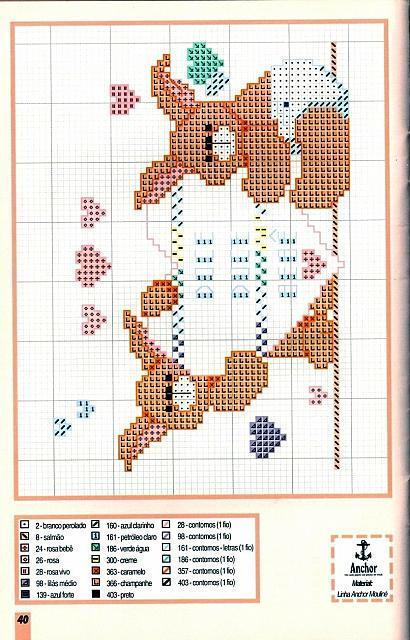 Animali coniglietti 5 punto croce for Schemi punto croce animali per bambini