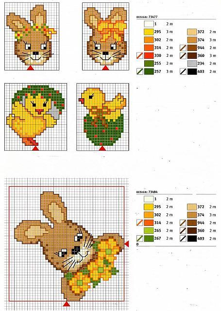 Animali coniglietti3 punto croce for Animali a punto croce per bambini