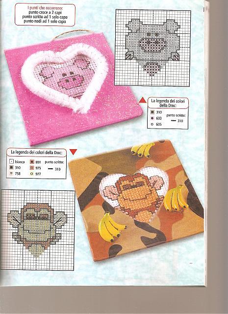 Animali del cuore bambini2 punto croce for Animali a punto croce per bambini
