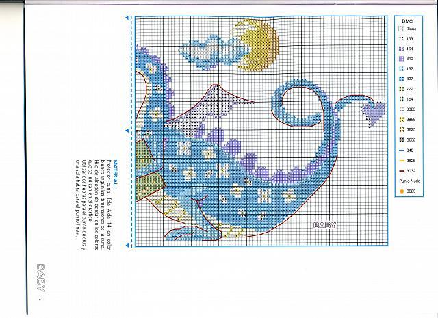 Animali draghetti blu 2 punto croce for Animali a punto croce per bambini