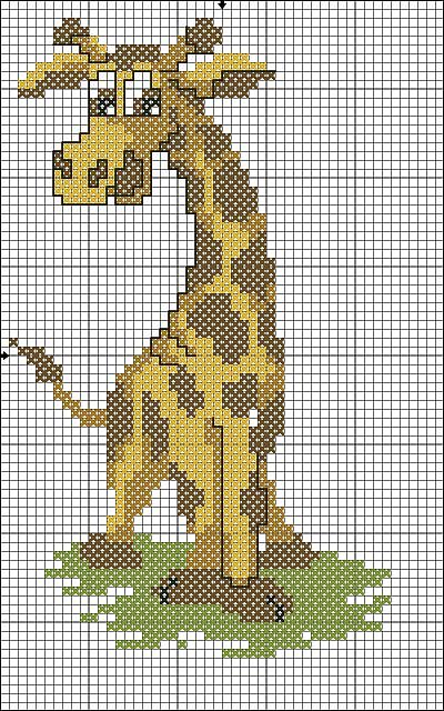 Animali giraffa1 punto croce uncinetto for Animali a punto croce per bambini