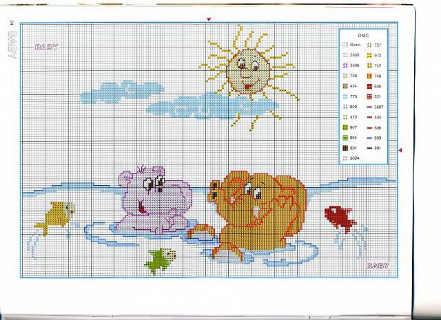 Animali nell 39 acqua 2 punto croce for Animali a punto croce per bambini