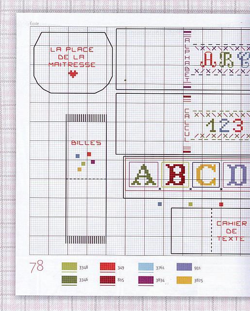 Lettere dell 39 alfabeto e cartina geografica della francia for Schemi lettere punto croce