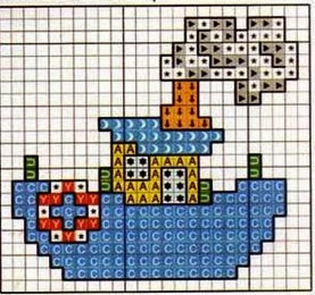 Schemi punto croce animali per bambini 3984 magiedifilo for Schemi punto croce animali per bambini