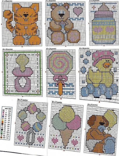 Schemi punto croce animali per bambini 454 magiedifilo for Schemi punto croce animali per bambini