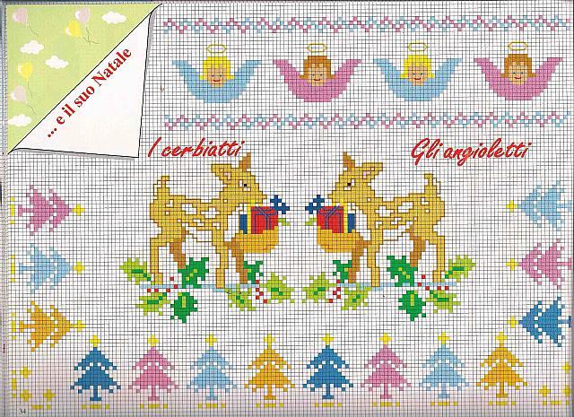 Cerbiatti e angioletti punto a croce for Angioletti punto croce per bambini