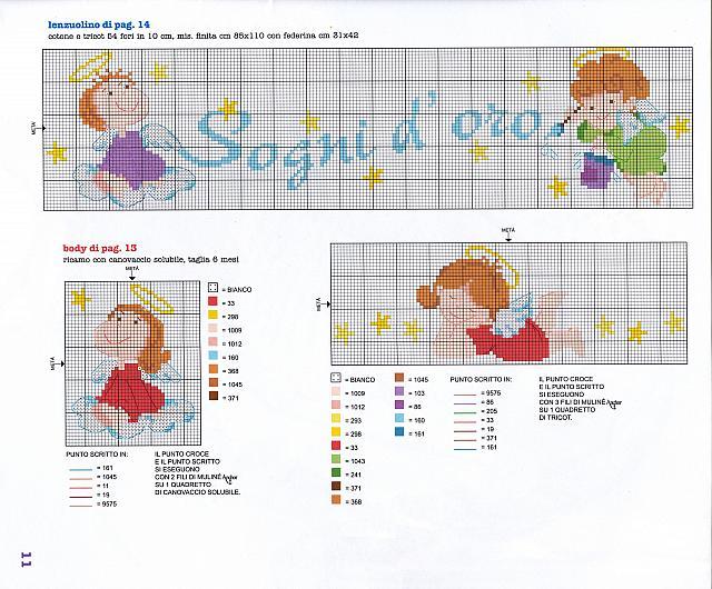 Copertina lenzuolino filastrocca angioletti 3 for Punto croce bambini gratis