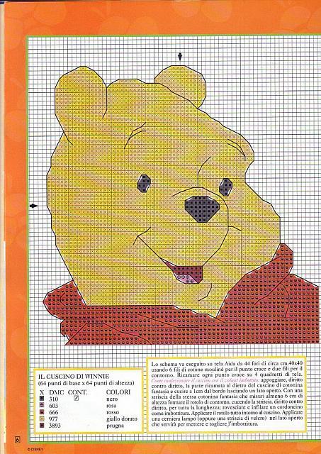 Cuscino schema punto croce con winnie the pooh for Winnie the pooh punto croce schemi