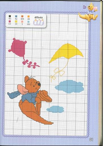 I simpatici personaggi winnie the pooh a punto croce 6 for Winnie the pooh punto croce schemi