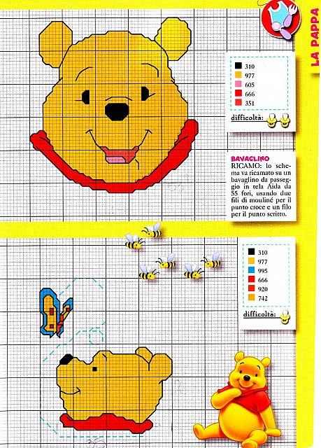 Punto croce winnie the pooh 1 punto croce for Winnie the pooh punto croce schemi