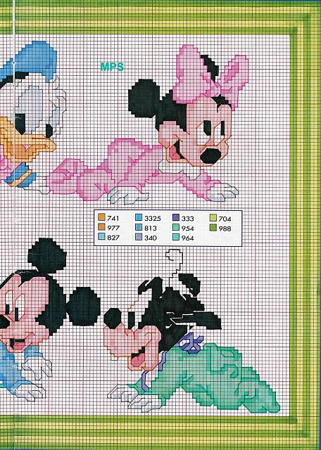 Baby pluto paperina paperino topolino minnie 2 for Disney punto croce schemi gratis