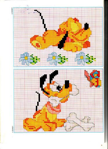 Disney baby pluto ossi punto croce for Schemi punto croce pluto