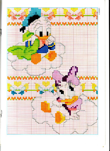 Disney baby su nuvole 1 punto croce for Schemi punto croce bambini disney