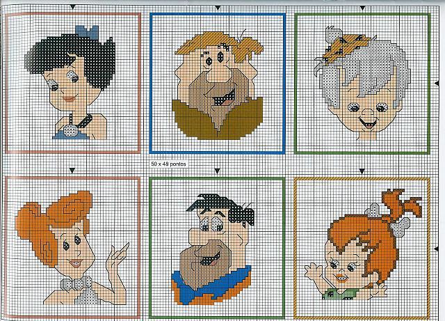 Flintstones 4 punto croce uncinetto for Punto croce bambini disney