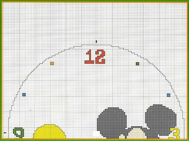 Orologio schema punto croce con topolino 2 magiedifilo for Orologio punto croce schemi gratis