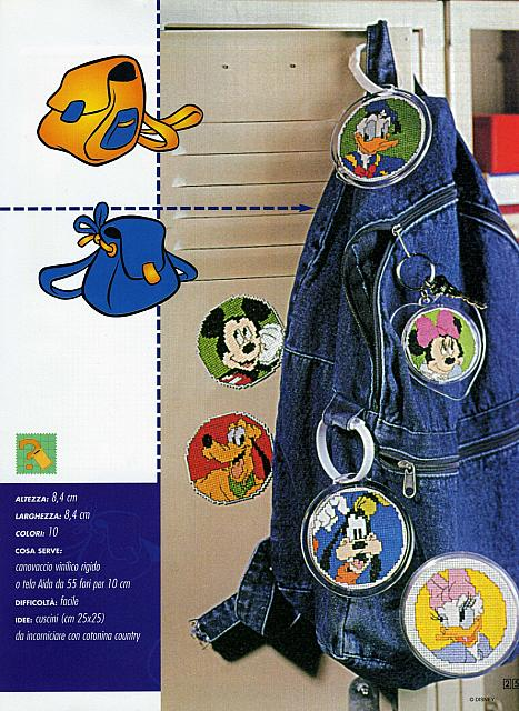 Piccoli ricami coi personaggi di topolino 1 for Piccoli ricami punto croce per bambini