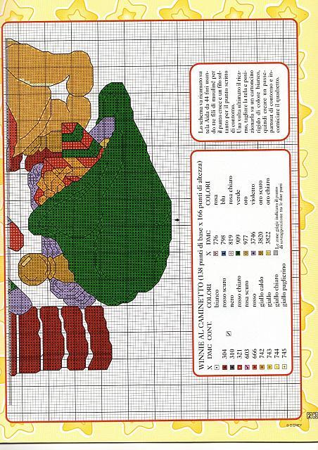 Schema ricamo winnie the pooh al caminetto 2 for Punto croce disney winnie the pooh